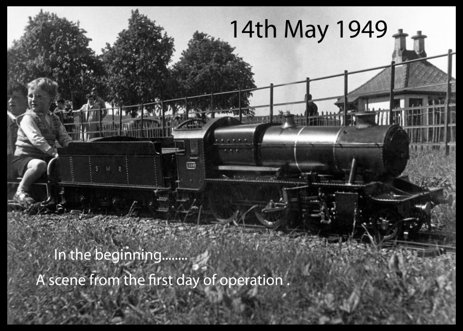 14th of May 1949 first day of operation in Strathaven park next to the old putting green